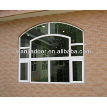 marco de madera ventanas de vidrio fijas / pvc ventana fija / guangzhou