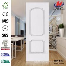 JHK-S03 Particularmente 3.5MM superficie lisa de la superficie del primer modelo blanco de la puerta usada en hotel