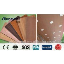 Panneau composite en aluminium à grain de bois recouvert de PVDF de 2 mètres de largeur