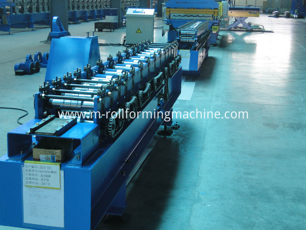 Steel CZ purlin rolling forming machine