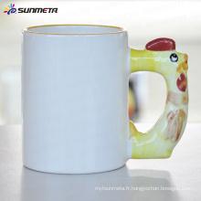 Sublimation Tasse de tasse blanche animée