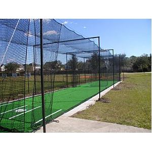 Portable dobrando grande boca baseball batting net