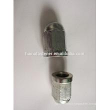 galvanized big hex cap nut with mild steel DIN1587