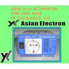 Salida 230VAC con salida UK Inversor de 200W conmutador 50 / 60Hz seleccionable