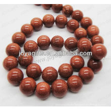 Perlas redondas de piedra de oro rojo / 4mm / 6mm / 8mm / 10 / mm / 12mm grado A