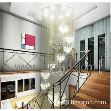 2014 hot sales  staircase modern crystal chandelier ball light