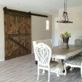 Vintage X Brace Wood Barn Barn Puertas corredizas