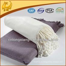 Venta al por mayor 100% puro suave pesado bambú algodón Throw y manta