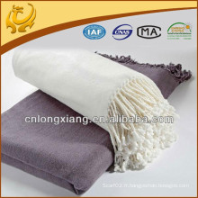 Vente en gros 100% Pure Soft Heavy Bamboo Cotton Throw And Blanket