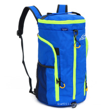 Waterproof Nylon Camping Shoulder Tote Backpack Barrel Duffel Bag (YKY7296)