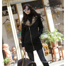 Cheap Women Coat Black 100% Polyester Jacket