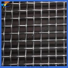 Malla de alambre prensada de acero al manganeso con pantalla vibratoria