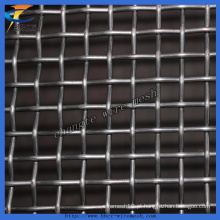 Malha de arame frisada do aço de manganês da tela de vibração