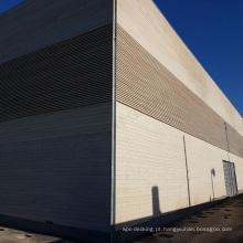 Painel de parede exterior composto plástico de madeira / tapume do wpc