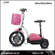 Elektrischer Mobilitätsroller für ältere Erwachsene 3 Räder große Größe