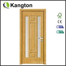 Baño de vidrio de diseño de interiores Puerta de madera MDF (puerta de madera MDF)