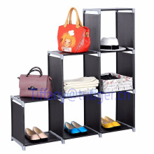 living room storage organizer cabinet Home foldable plastic shelf