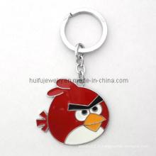 Cadeau Charm Keychain Metal Enamel Bird Shape Gift