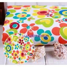 Heart&Flower Patterns 250GSM Textile Canvas Fabric