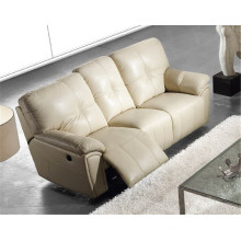 Sofá de salón con sofá moderno de cuero genuino (916)