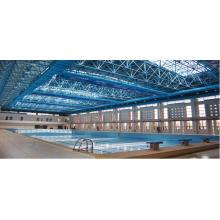 Cubierta de la piscina de la techumbre del marco metálico de alta calidad y económica