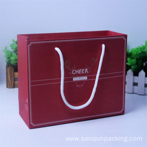 Elegant texture paper bag box with string handles