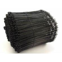 Bindedraht schwarz Doppel-Loop