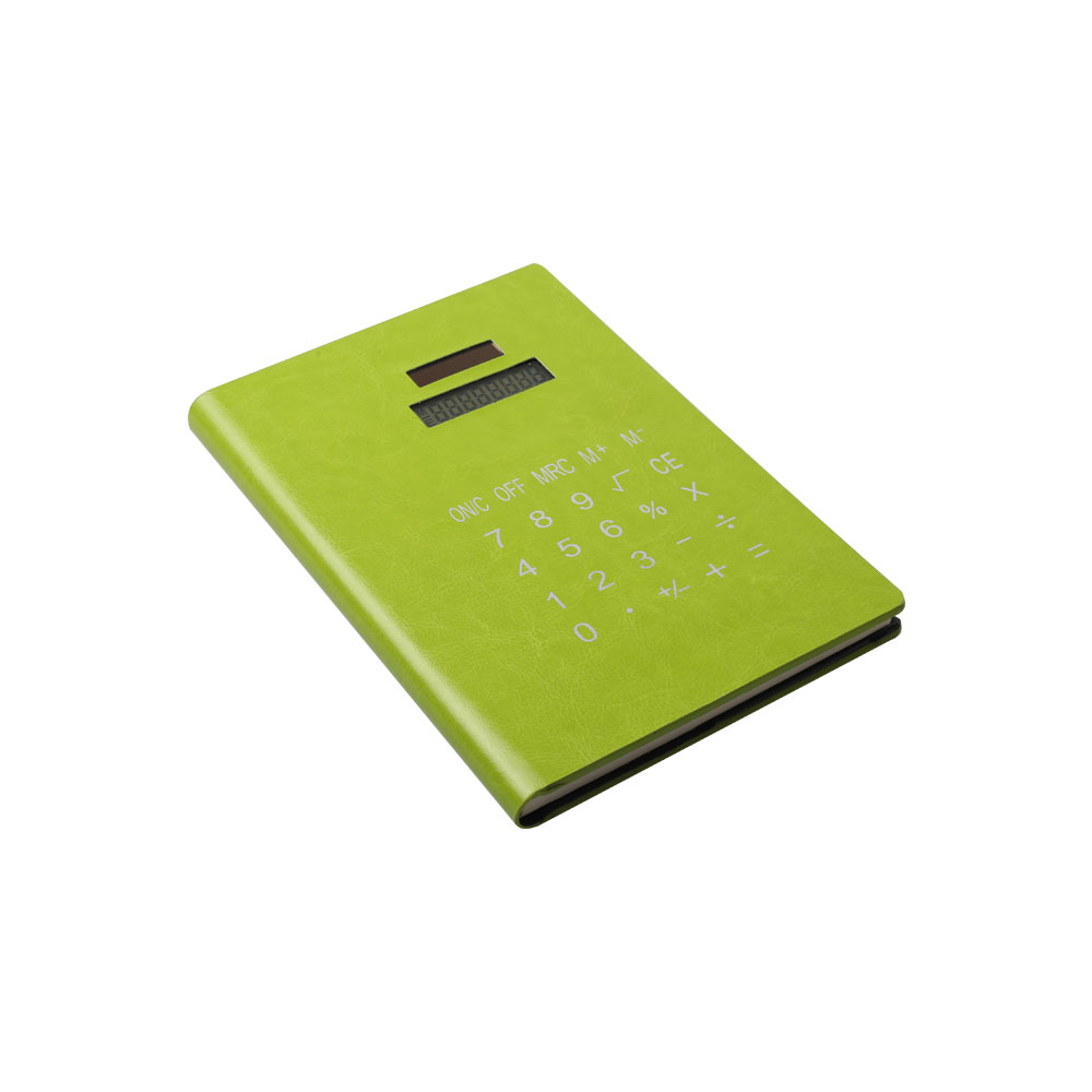 Solar Power PU Material Notebook Calculator for Students