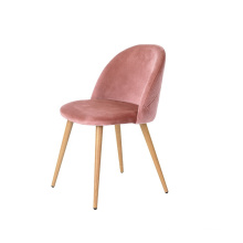 Luxury Hotel Restaurant Pink Velvet Fabric Dining Room Chair Set for sales
