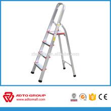 Escalera de 4 pasos para el hogar, escalera plegable de aluminio, escalera de aluminio
