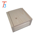 Wholesale production wooden handmade square gift wooden box