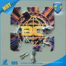 Autocollant de casse-croûte holographique holographique holographique personnalisé anti-faux personnalisé