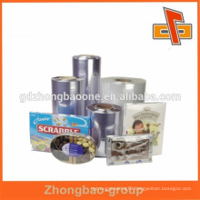 clear heat shrink plastic film for cans,boxes,jars and tins packaging