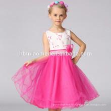 цветок девочки платья для партии и свадьбы детей полный цветочные кружева ребенка Принцесса платье дети костюм девушки платье партии малышей