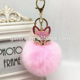 fashion custom design wholesale fox fur keychain