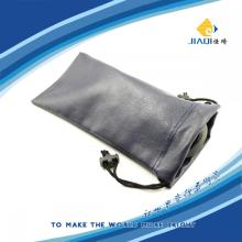Eyeglasses Double Drawstrings Leather pouch