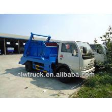 Dongfeng 4000L caminhão de lixo, caminhão de lixo de contêiner