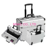 Sliver Travel Aluminum Attache Case / Computer Carrying Cases With Trolley