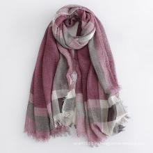 Проверил напечатаны вискоза мода женщин длинный Шелковый шарф (YKY1122)