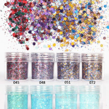 Mixed color Glitter powder for nail art and cosmetic face ,body