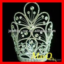 Beauty flower design diamond queen pageant tiara crown