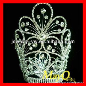Belleza flor diseño diamante reina pageant tiara corona