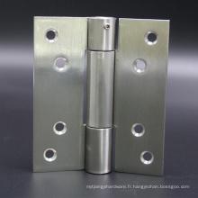 Charnière de porte à fermeture simple en acier inoxydable pour porte en bois