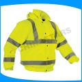 Jaqueta de segurança amarelo de alta visibilidade com forro de algodão