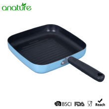 Pressed Aluminum Square Black Non Stick Grill Pan