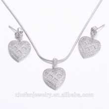 wholesale jewelry supplies china romantic jewelry set heart shape jewely for women