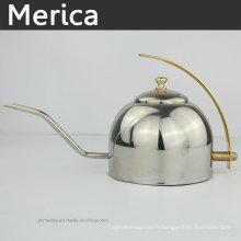 Bouilloire classique de 1,2 litre avec poignée d'or