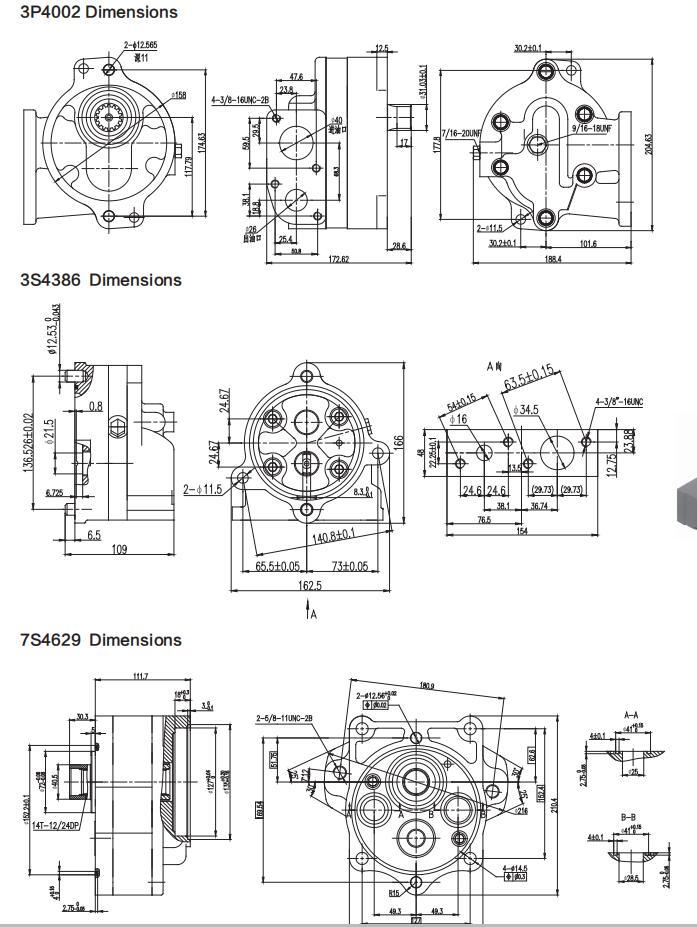 Cat pumps Dimensions-1