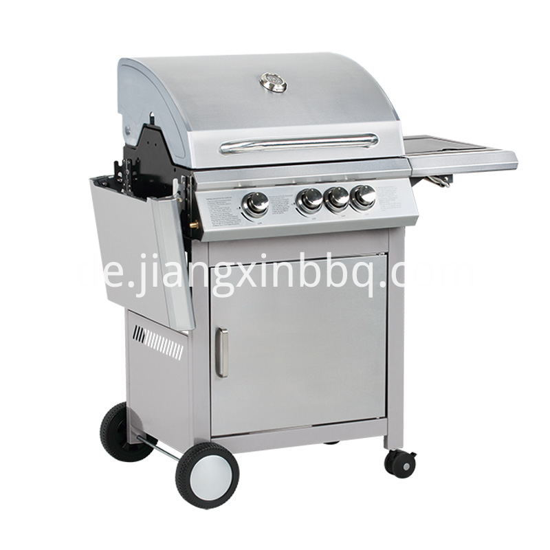 3 1 Burners Stainless Steel Bbq Grill Foldable Side Table