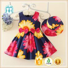 Uma peça de Primavera meninas vestido Crianças Meninas Roupas Casuais Do Bebê Da Menina floral Fringed minúsculo Vestido